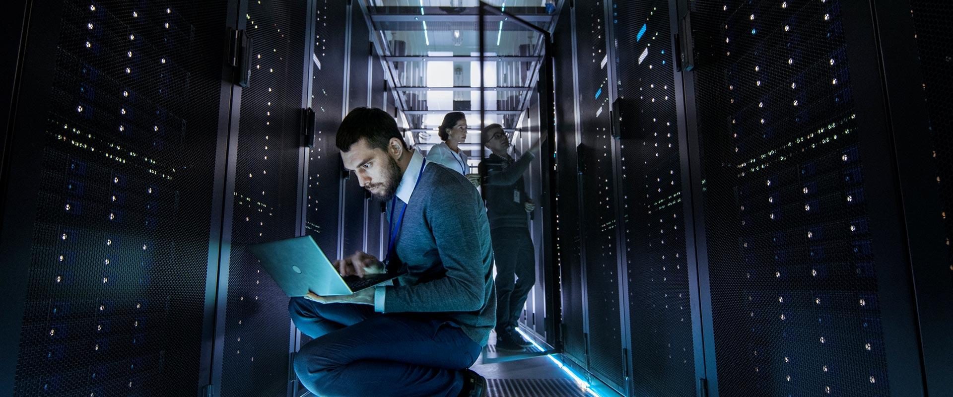 tecnico in sala server